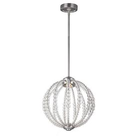 image-FE/OBERLIN/P/S Oberlin 1 Light Small LED Ceiling Pendant Light In Satin Nickel - Dia: 352mm