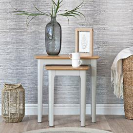 image-Bergen Grey Painted Oak Nest of 2 Tables