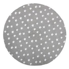 image-Grey with white stars, round rug