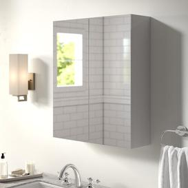 image-Gintautas 60cm x 71.5cm Surface Mount Mirror Cabinet Belfry Bathroom Finish: White