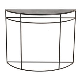 image-Ethnicraft - Half Moon Heavy Aged Console - Charcoal