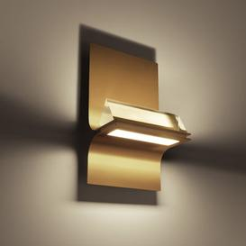 image-Newton Wall light - / LED by Foscarini Gold,Transparent