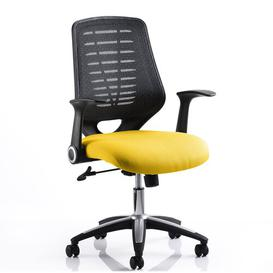image-Mid-Back Mesh Desk Chair Symple Stuff Colour: Sunrise/Black