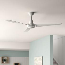 image-140cm Nunn Ceiling Fan Mercury Row Colour: White, Features: Remote is not included