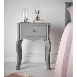 image-Morrell Vintage Side Table with Storage Fleur De Lis Living Colour: Grey