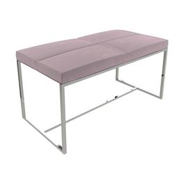 image-Euclid Dressing Table Stool Canora Grey Frame Colour: Polished, Seat Colour: Blush Pink