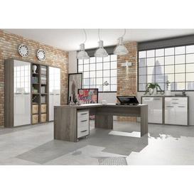 image-Disegno L-Shape Executive Desk Ebern Designs Size: 74.5cm H x 139cm W x 80cm D