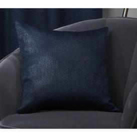 image-Adkins Ambiance Cushion Cover Fairmont Park Colour: Navy Blue