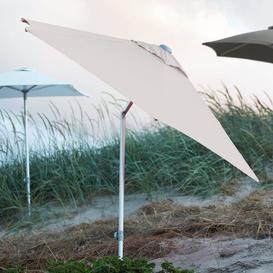 image-Webber 1.73m Beach Parasol JanKurtz Size: 16.5cm H x 176cm W x 15cm D, Colour: Taupe