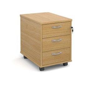image-Tully Mobile Pedestals, Oak, Free Delivered & Fully Installed Delivery