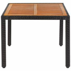 image-Kulap Wodden Dining Table Sol 72 Outdoor Size: 75cm H x 90cm W x 90cm D