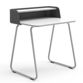 image-Secretary Desk Sedus Frame Colour: White, Top Colour: Anthracite/White, Wireless Charger Type: With EU Wireless Charger