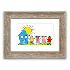 image-Happy Children in the Sun - Picture Frame Graphic Art Print on Paper