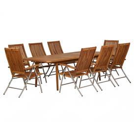 image-Royalcraft Garden Langkawi Wooden 8 Seater Rectangular Extending Dining Set