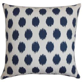 image-Ashbury 7 Stories 100% Cotton Cushion Cover Brayden Studio Colour: Navy Blue, Size: 40 x 40cm