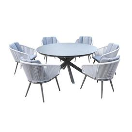image-6 Seater Dining Set with Cushions Royal Craft