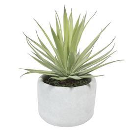 image-Artificial yucca pot plant H 8cm