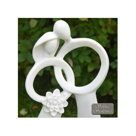 image-Solstice Sculptures Just Married Garden Ornament Statue White