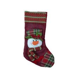 image-Snowman Christmas Stocking (51cm x 26cm)