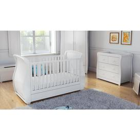 image-Bel White 2 Piece Nursery Set
