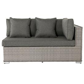 image-Rattan Garden Day Bed Sofa Left As You Sit in Grey - Monaco - Rattan Direct