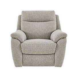 image-Snug Fabric Manual Recliner Armchair