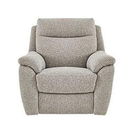 image-Snug Fabric Manual Recliner Armchair