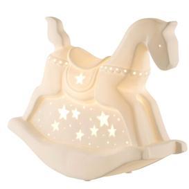 image-Rocking Horse Lumainre 25.5cm Table Lamp Belleek Home