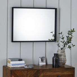 image-Essentials Mantle Wall Mirror 73x53cm Black Cream
