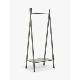 image-House by John Lewis Bamboo Clothes Rail with Shelf, Black