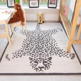 image-Leopard Print Soft Kids Bedroom Rugs  - Nino