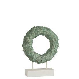 image-Feet Polyester Wreath Symple Stuff Size: 29.5cm H x 24cm W x 6cm D