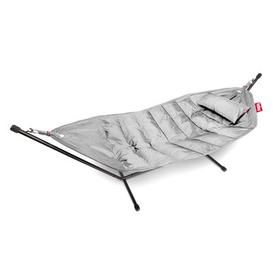 image-Headdemock Deluxe Hammock - with cushion and protection case by Fatboy Light grey
