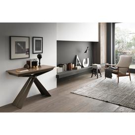 image-Genesi Transforming Table - Console 195 cm , Brown