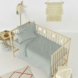 image-Rockford Fitted Cot Sheet Symple Stuff Colour: Stone