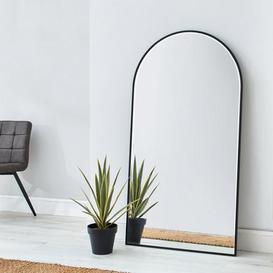 image-Apartment Arch Leaner Mirror 150x80cm Black Silver