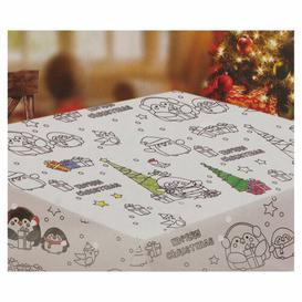 image-Colour Your Own Christmas Tablecloth Symple Stuff