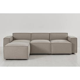 image-Model 03 - 3 Seater Left Chaise Sofa - Pumice