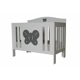 image-Palometa Cot Bed HoneyBee Nursery Colour: Silver