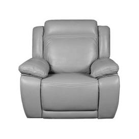 image-Cheshire Light Grey Leather Recliner Armchair