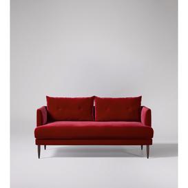 image-Swoon Kalmar Two-Seater Sofa in Rouge Easy Velvet With Dark Feet