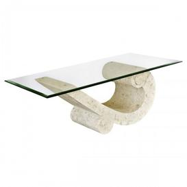 image-Silas Glass Top Mactan Stone Sea Crest Coffee Table