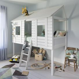 image-Christopher Treehouse Midsleeper Bed in Classic White