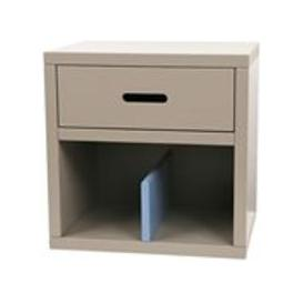 image-Mathy by Bols Kids Bedside Table in Madaket Design - Mathy Very Light Pink