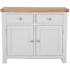 image-Perth Oak and Grey Painted Sideboard - 2 Door