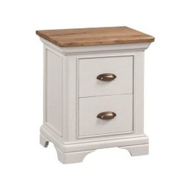 image-Leanne Bedside Cabinet In Stone Washed White Finish