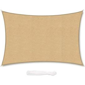 image-Cliona Rectangular Shade Sail Sol 72 Outdoor Colour: Sand, Size: 300cm W x 200cm D