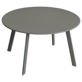 image-Ayda Steel Side Table Sol 72 Outdoor Colour: Dark Taupe, Size: 40cm H x 70cm W x 70cm D
