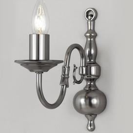 image-Roosevelt 1-Light Candle Wall Light Astoria Grand Finish: Polished Brass