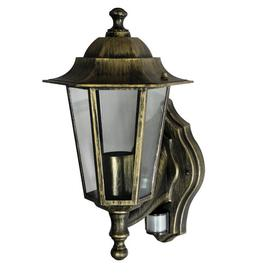 image-Lucy Outdoor Wall Lantern with Motion Sensor Marlow Home Co. Frame colour: Antique gold